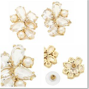 NWT Kate Spade stud earrings- cream/Multi